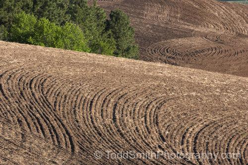 Freshly plowed earth