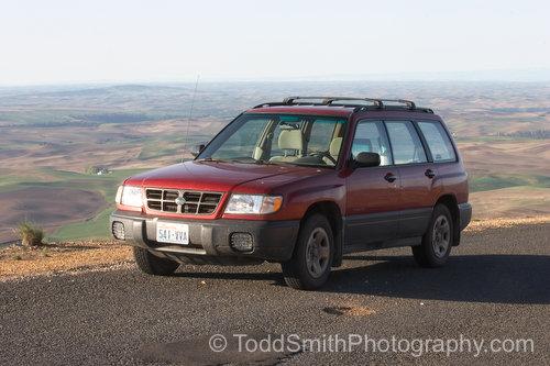 My car on Steptoe Butte, Washington