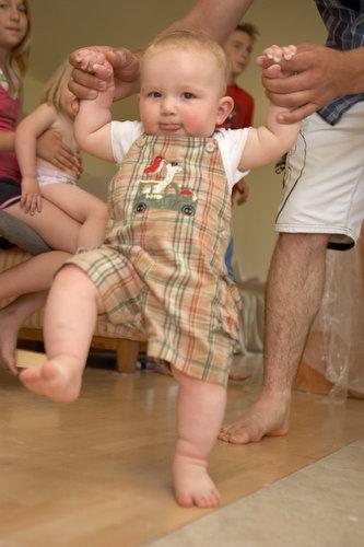 Rylan's first steps