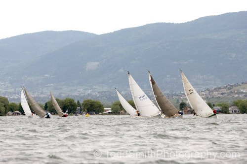 vernon regatta under heavy wind