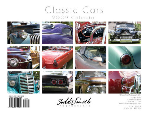 Cover Page of Classic Cars Photo Wall Calendar