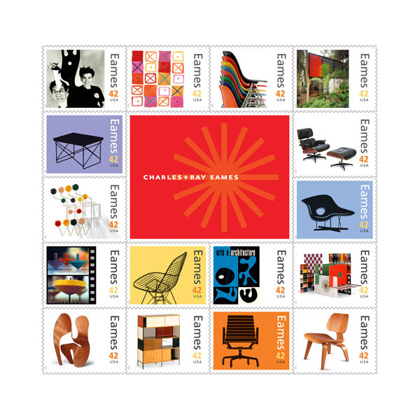 Charles Ray Eames Postage Stamp