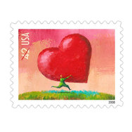Love All Heart Postage Stamp