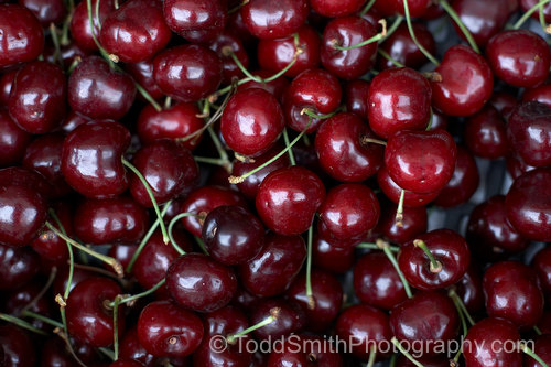 Photograph of Cherries Ready to Eat