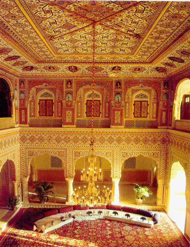 Palace interior in India
