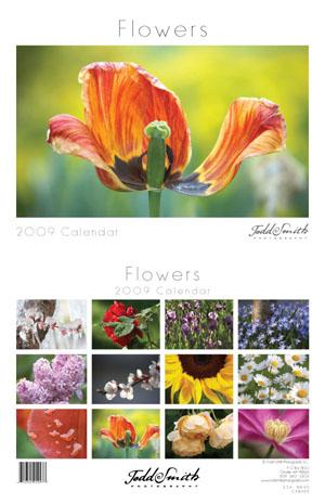 2009 Deluxe Wall Calendar - Flowers