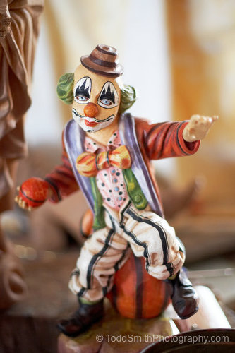 clown figurine photo greeting card