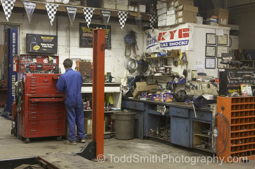 Kyle working at Oliver Brake and Muffler