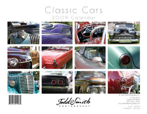 Classic Cars Calendar design (not used in 2009)